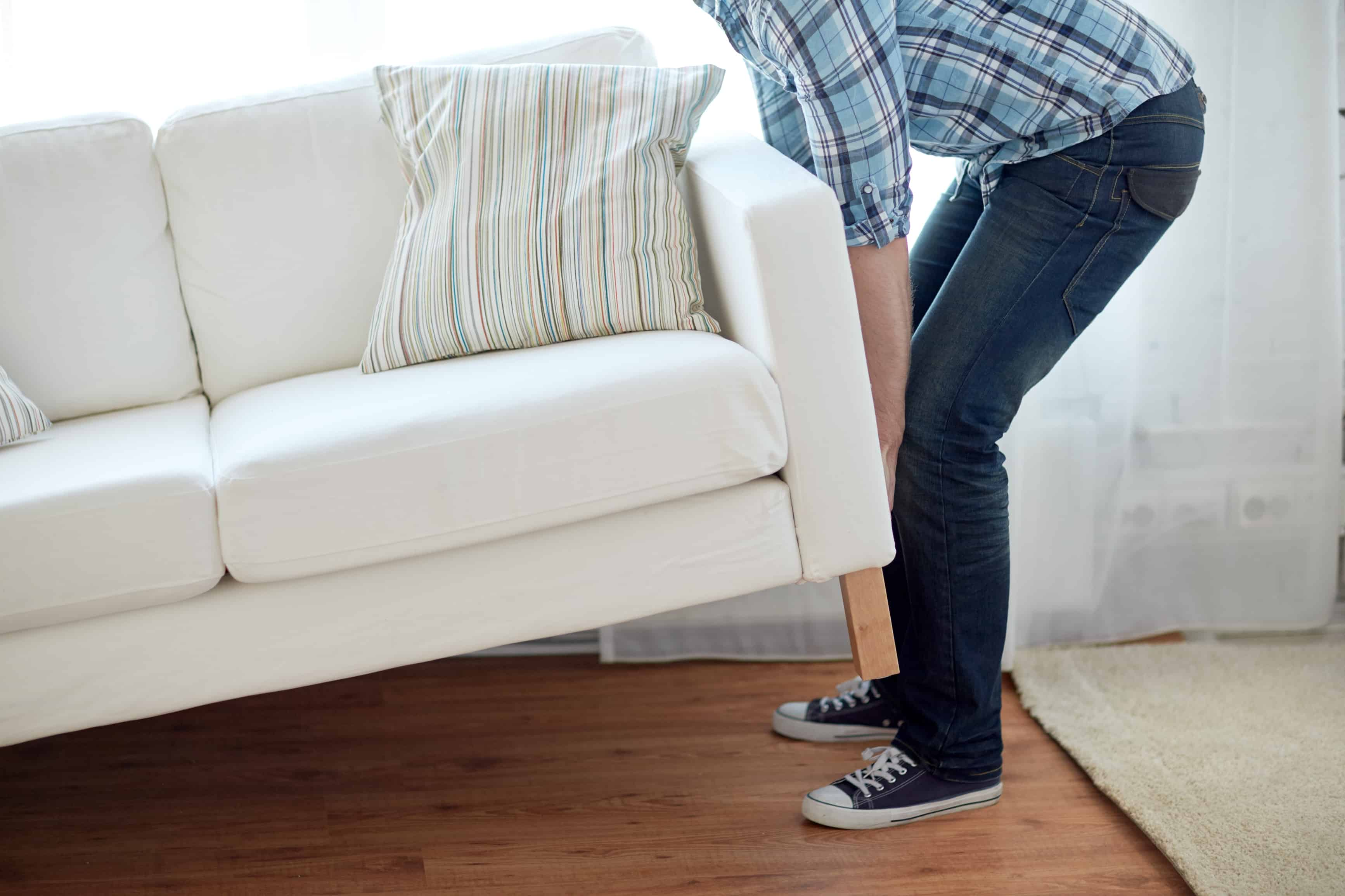How To Clean Hardwood Floors. Move Furniture