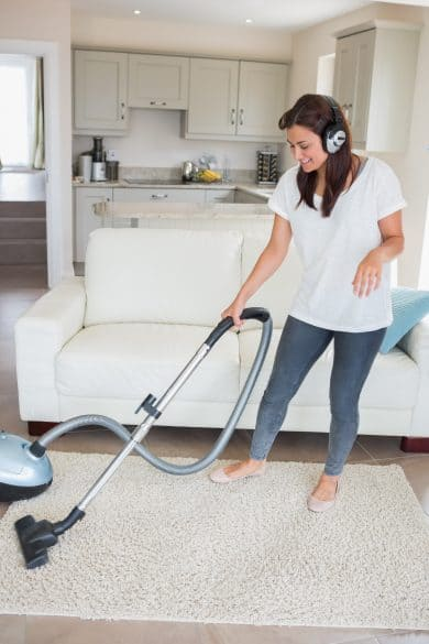 cleaning with music