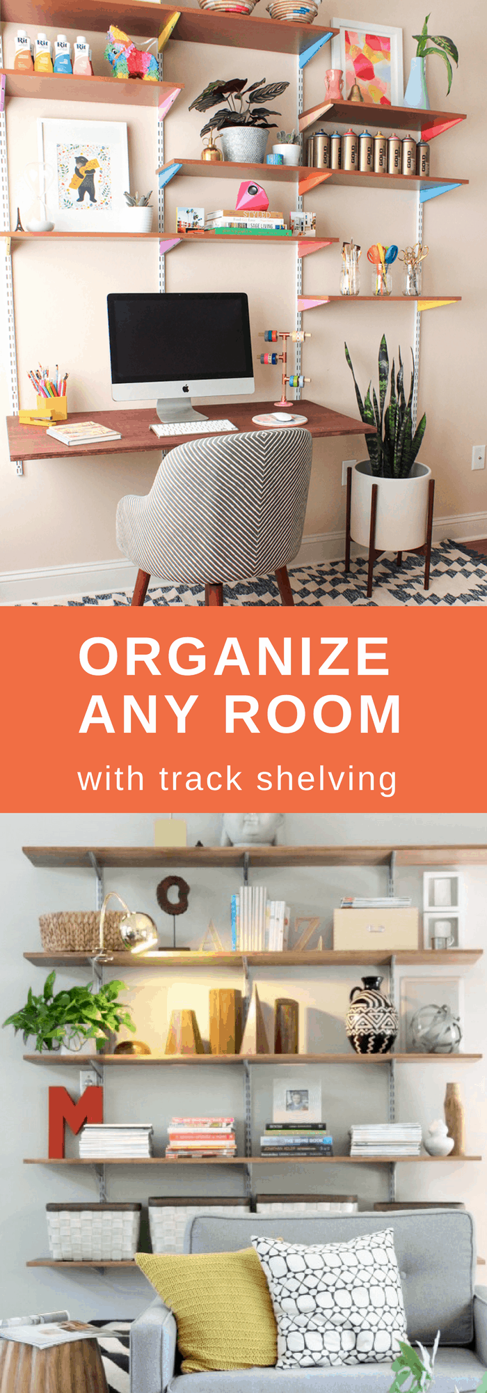 Organization--Organize Any Room with Track Shelving--The Organized Mom