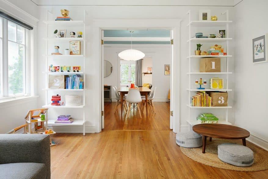 family room-child area-wood floors