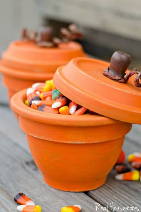 Terracotta candy pots - Real Housemoms