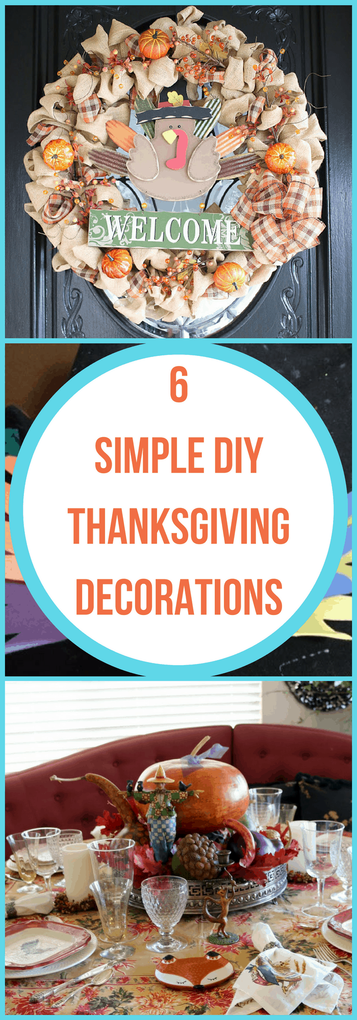 DIY-Simple Thanksgiving Decorations-The Organized Mom