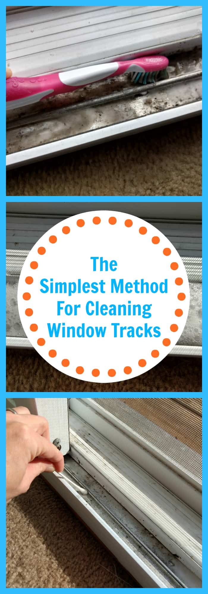 Cleaning--The Simplest Method For Cleaning Window Tracks--The Organized Mom