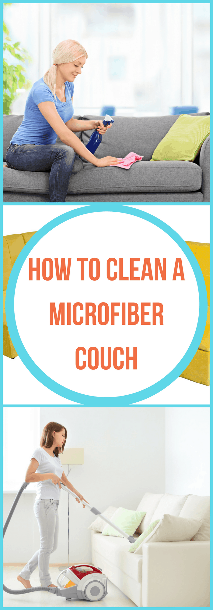 how to clean a microfiber couch the organized mom. Black Bedroom Furniture Sets. Home Design Ideas