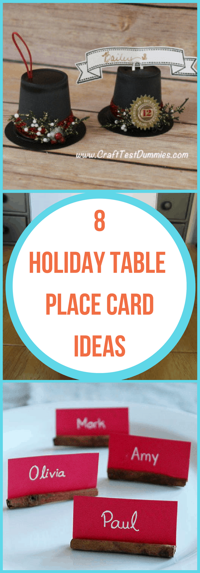 Holidays--8 Holiday table place cards ideas--The Organized Mom