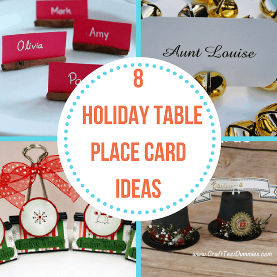 holiday table place cards