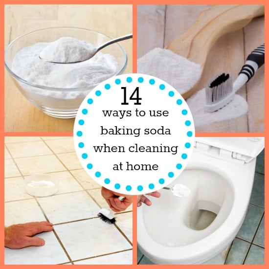 ways to use baking soda when cleaning at home