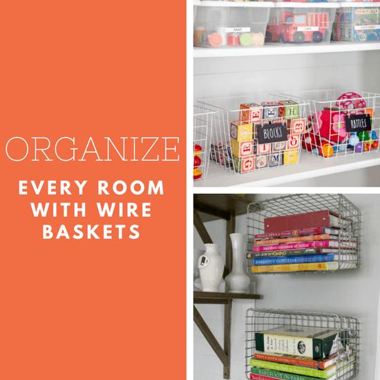 organize with wire baskets