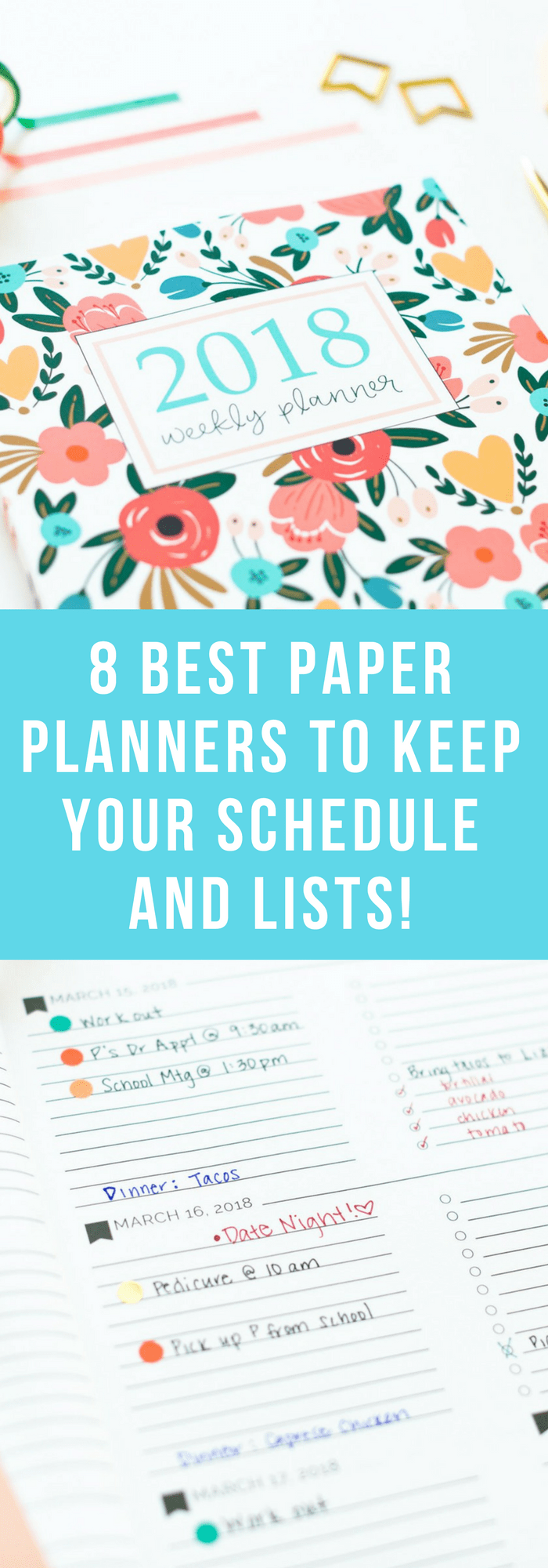 Organization--8 Best Paper Planners to Keep Your Schedule and Lists--The Organized Mom