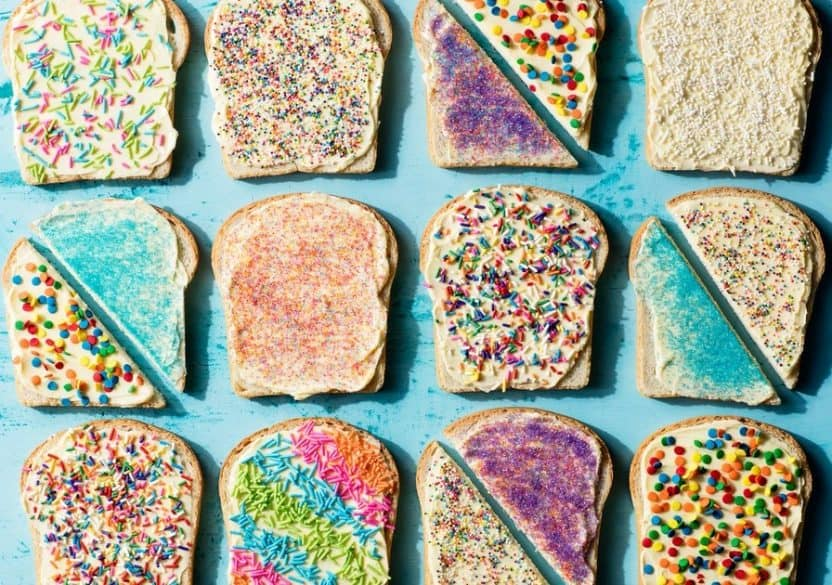 toast with sprinkles