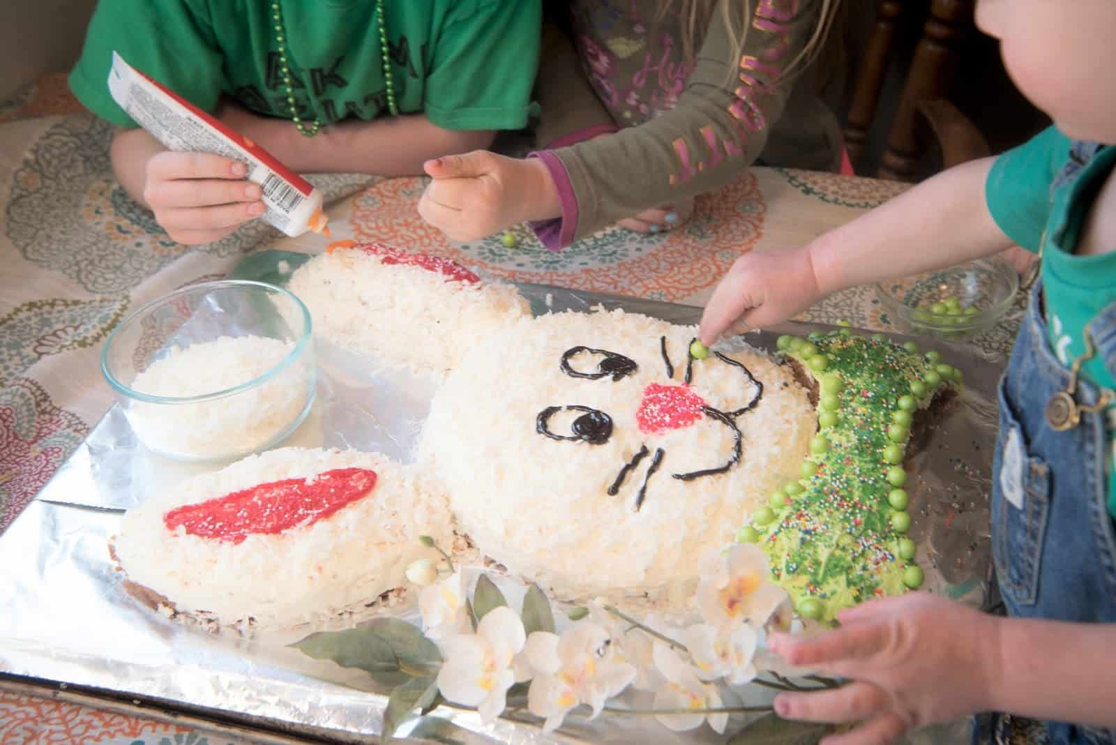 Make This Adorable Bunny Cake This Easter The Organized Mom