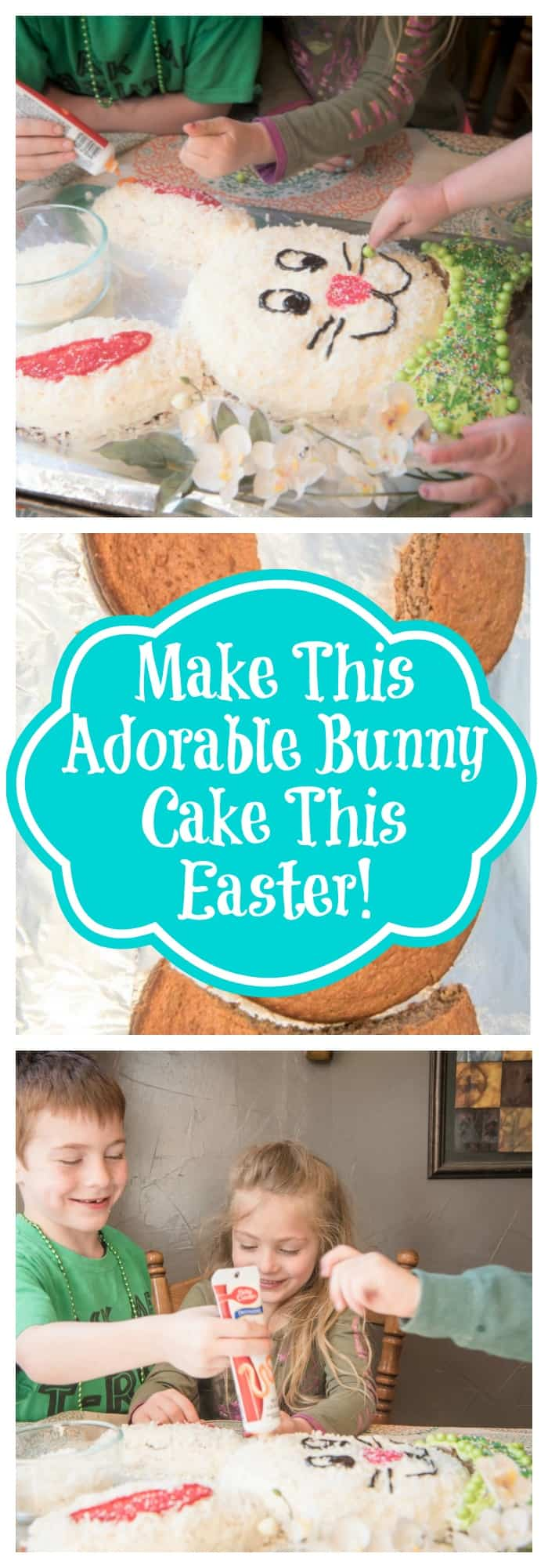 Holidays--Make This Adorable Bunny Cake This Easter--The Organized Mom