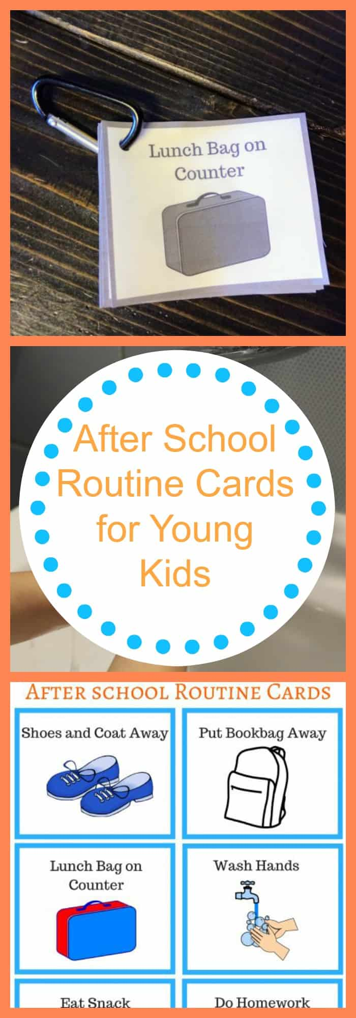 Parenting--After School Routine Cards for Young Kids--The Organized Mom