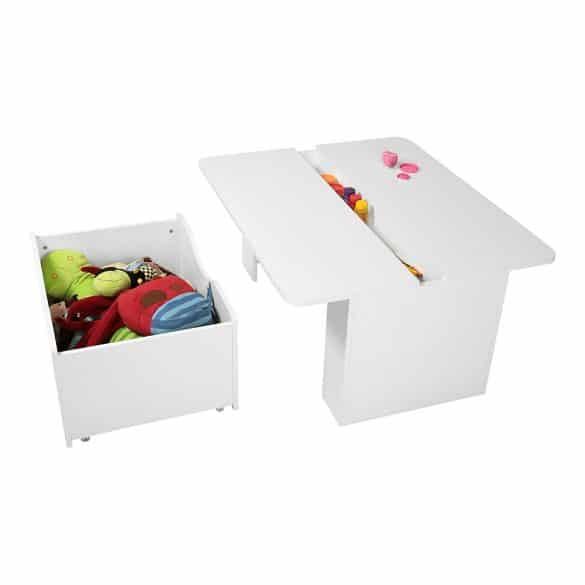 kid's desk with storage