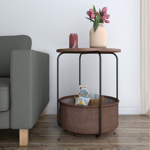endtable with storage basket