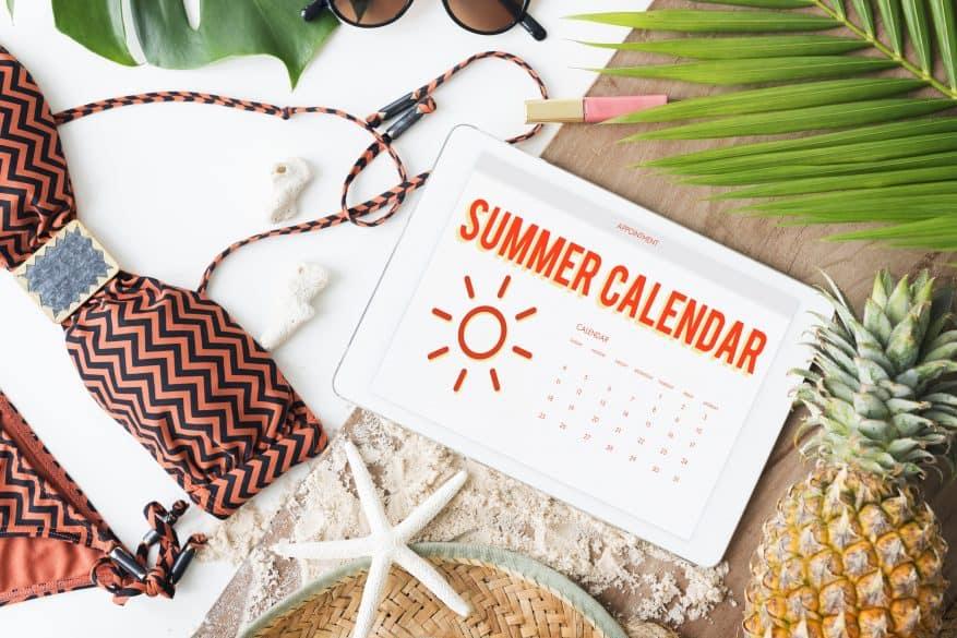 créer un calendrier d'été