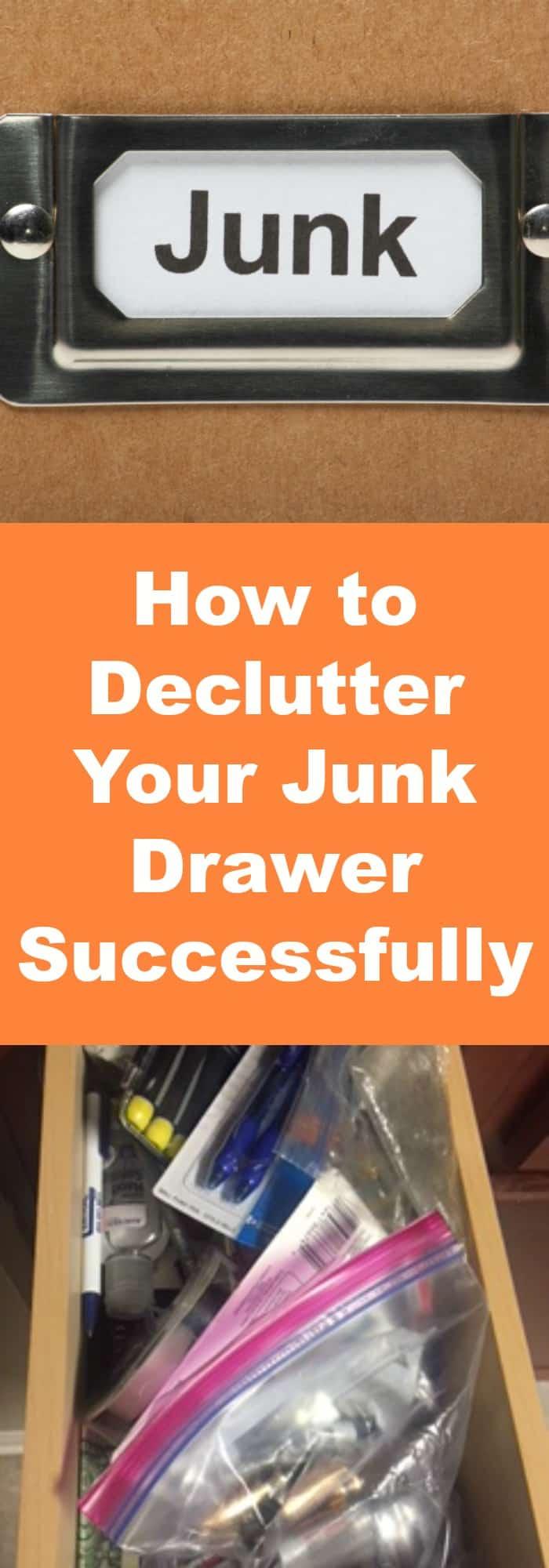 Organization--How to Declutter Your Junk Drawer Successfully--The Organized Mom
