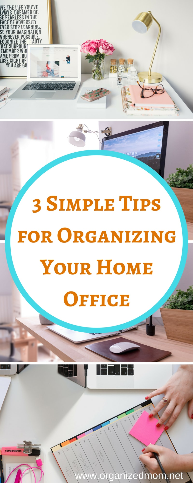 Organize My Home Office in 3 Simple Steps - The Organized Mom