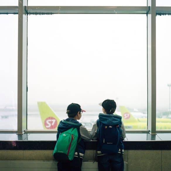 boys at airport