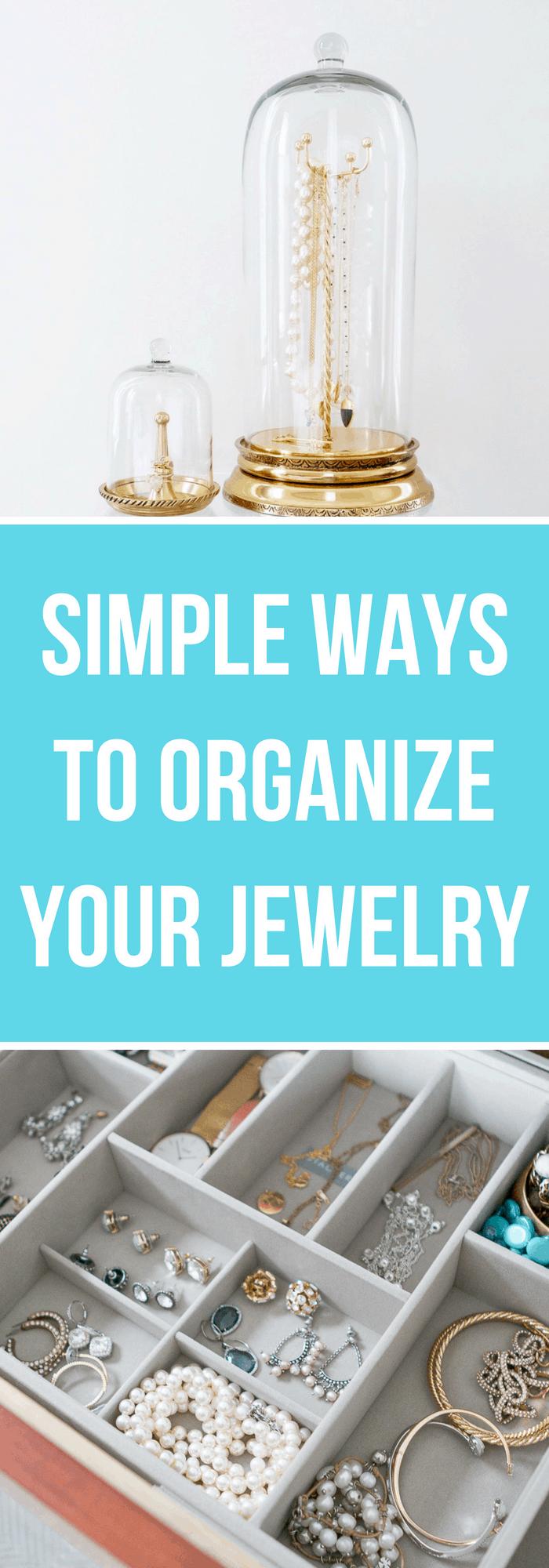 Organization--Simple Ways to Organize Your Jewelry--The Organized Mom