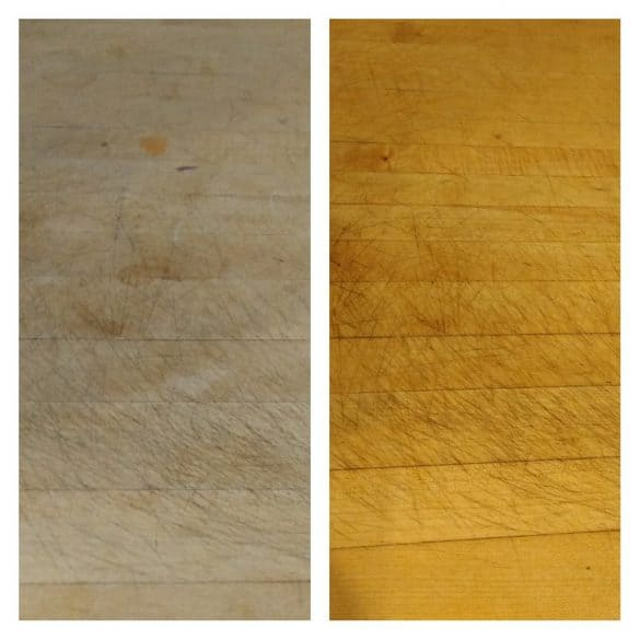 butcher block before and after