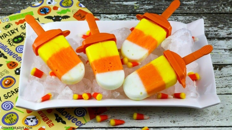 yogurt candy corn popsicles