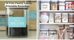 10 FREE Printable Pantry Labels to Whip Your Kitchen into Shape