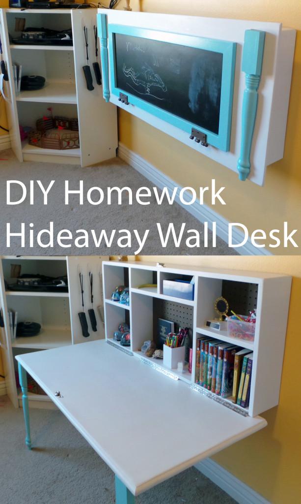 DIY-Homework-Hideaway-Wall-Desk