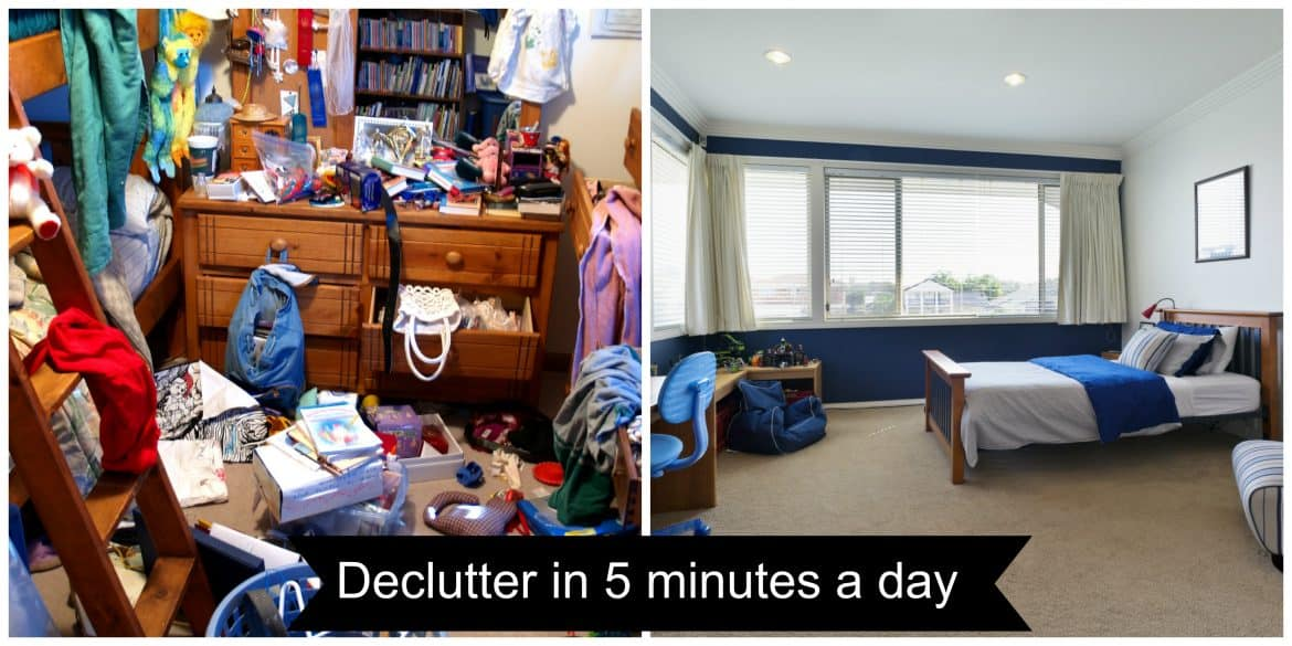 declutter in 5 minutes a day