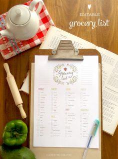 customizable-grocery-list