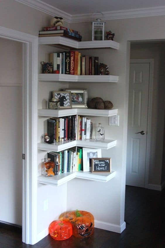 You Can Use Corner Shelving For Cookbooks This Is A Great Way To Utilize As Much E Possible In Your Kitchen