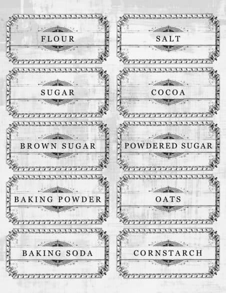 picture relating to Printable Pantry Labels named 10 No cost Printable Pantry Labels toward Whip Your Kitchen area into