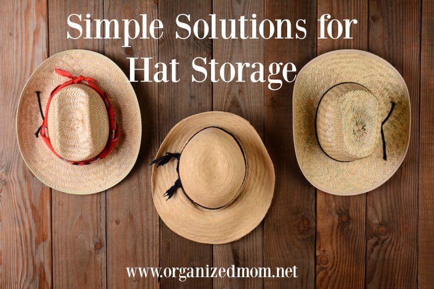 4a400fe1570 Simple Solutions for Hat Storage - The Organized Mom