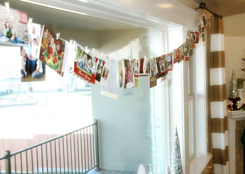 5 Creative Ways to Display Christmas Cards with Clothespins - The ...