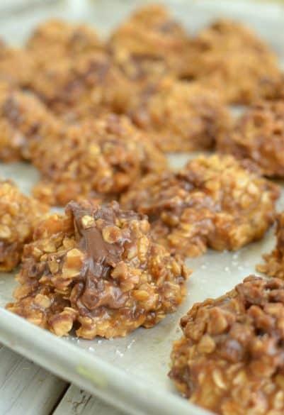 no-bake caramel cookies
