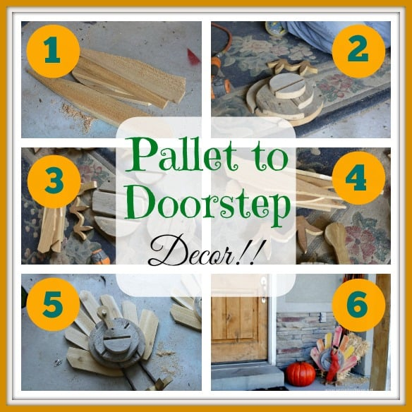 Upcycle Decor: Thanksgiving Pallet Turkey