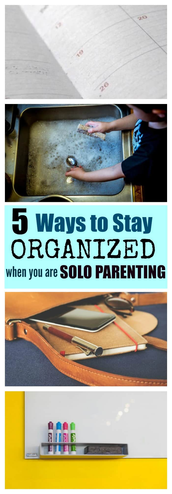 6 Organization Hacks for Solo Parenting