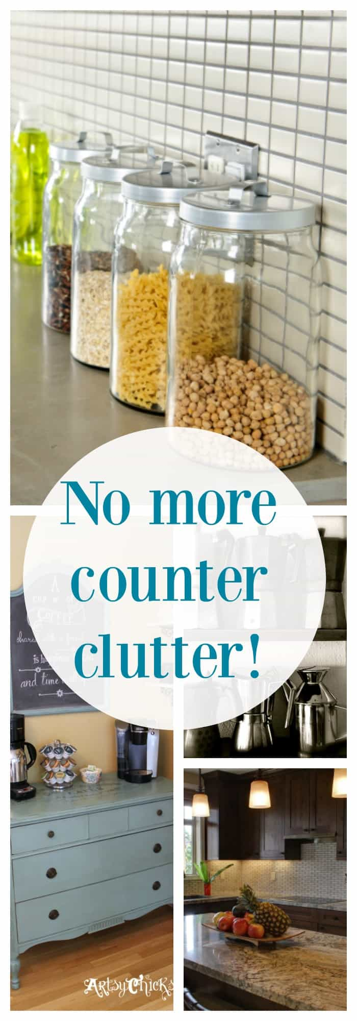 Get rid of kitchen clutter once and for all! www.organizedmom.net