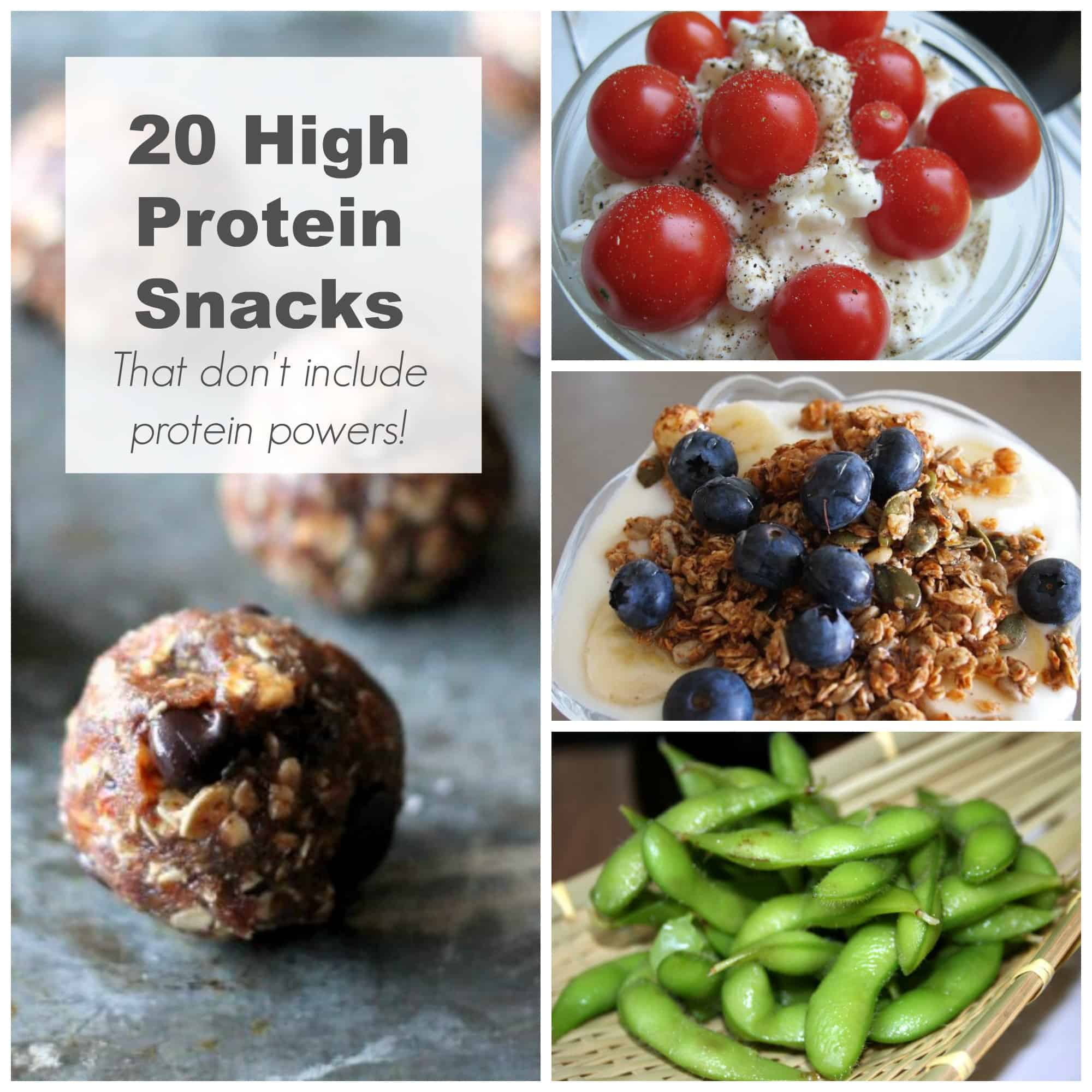 20 High Protein Snack Ideas