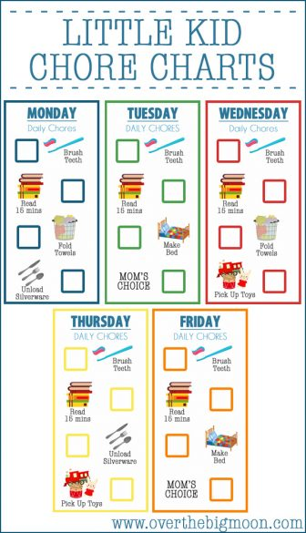 image relating to Printable Chore Chart for Kids named 10 Printable Chore Charts Your Young children Will Really like! - The