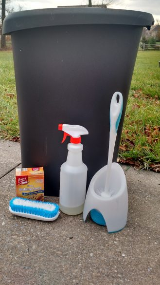 How to deep clean your trash can