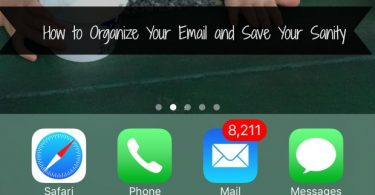how to organize email