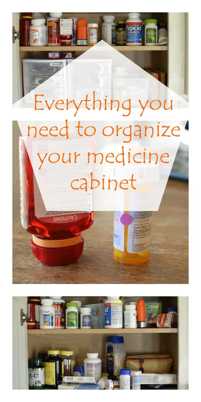 DIY HOME ORGANIZATION- Everything you need to organize your medicine cabinet