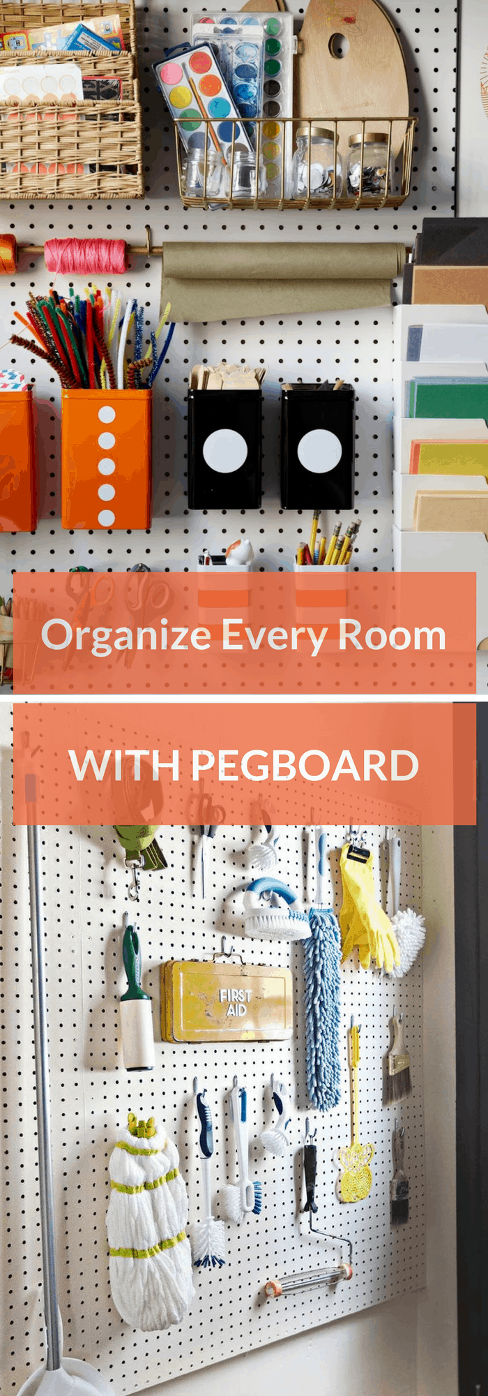 Organize every room with a pegboard