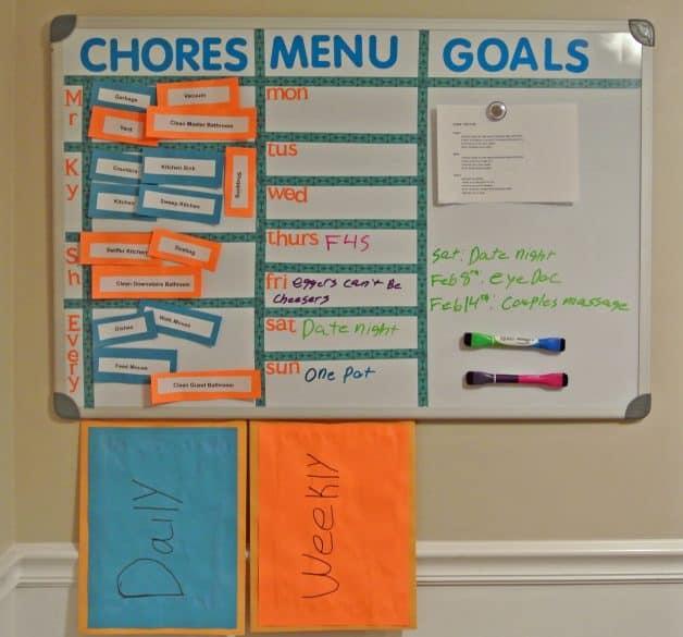 the DIY Chore chart