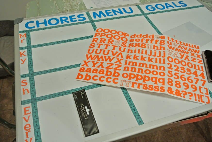 Making a DIY chore chart