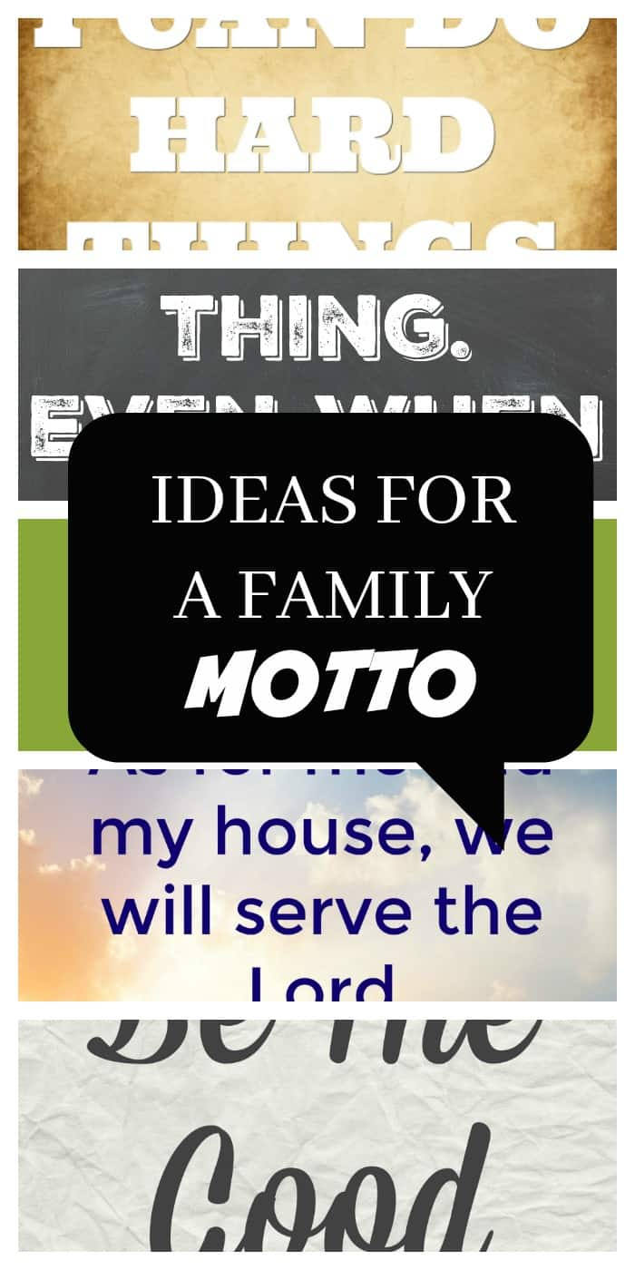 inspiration and ideas for writing family mottos