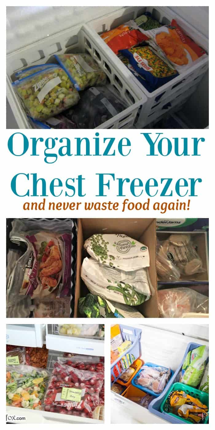 DIY KITCHEN- Organize your chest freezer and never waste food again!