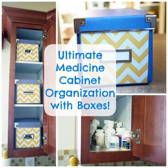 Home organization- organize the medicine cabinet