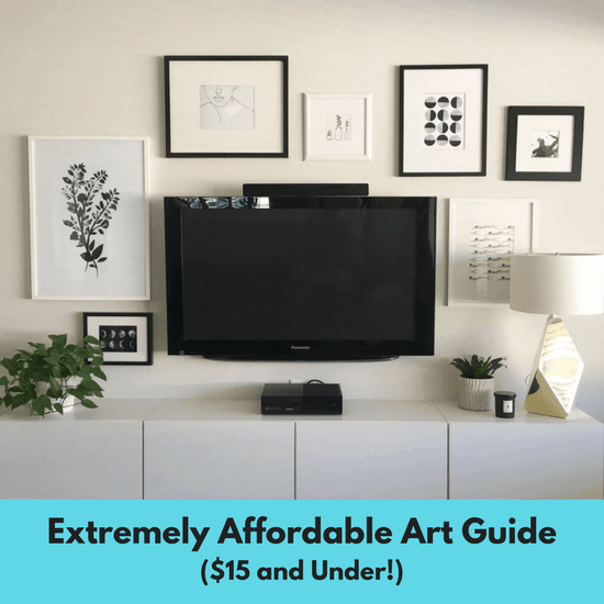 Home Decor DIY Affordable Art Guide $15 and under